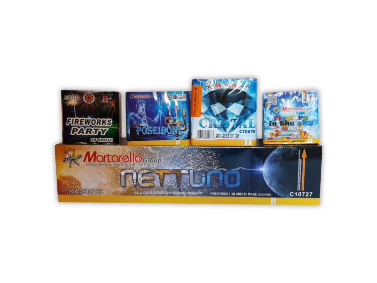 KIT BIRTHDAY 200 - BOX 4 fireworks show package 255 launches - 5 minutes of show COD. START03 (1)