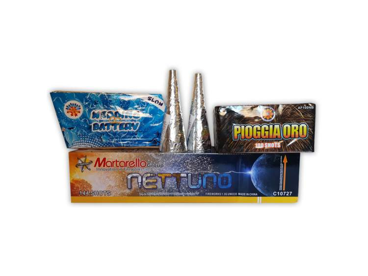WEDDING PACKS - box 5 products for wedding 5 fireworks for wedding party COD. START04 (1)