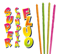 SUPER FLUO CANDLE - 4 pieces - COD. 0204M