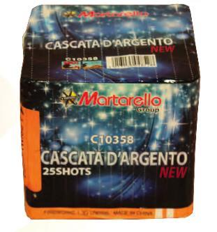 CASCATA D'ARGENTO - 25 lanci - COD. C10358