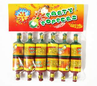 PARTY POPPERS - 12 pezzi - COD. 0116A