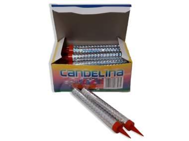 CANDELINA ARGENTO - 24 pezzi - COD. C2190X