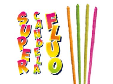 SUPER CANDELA FLUO - 4 pezzi - COD. 0204M