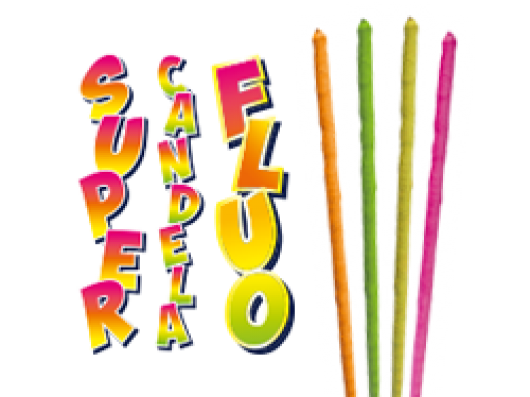 SUPER CANDELA FLUO 4 pezzi COD. 0204M (1)
