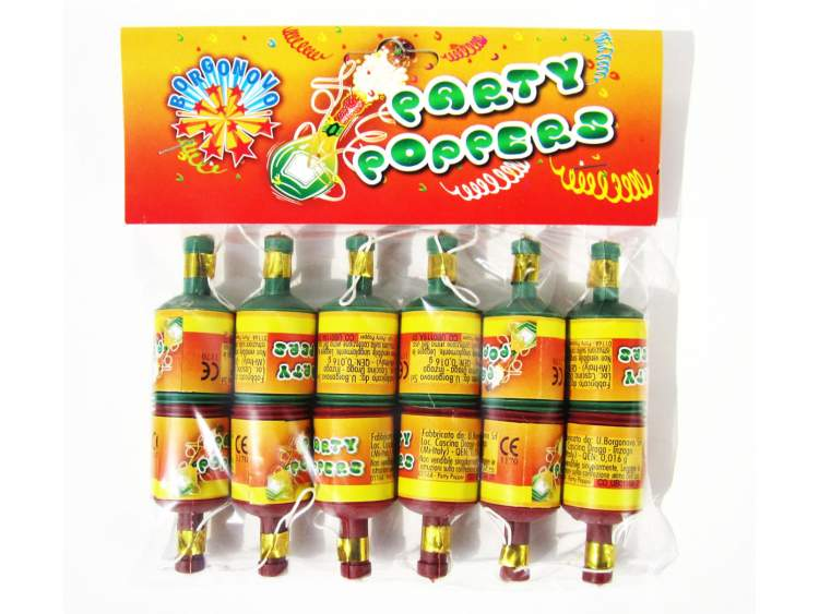 PARTY POPPERS 12 pezzi COD. 0116A (1)
