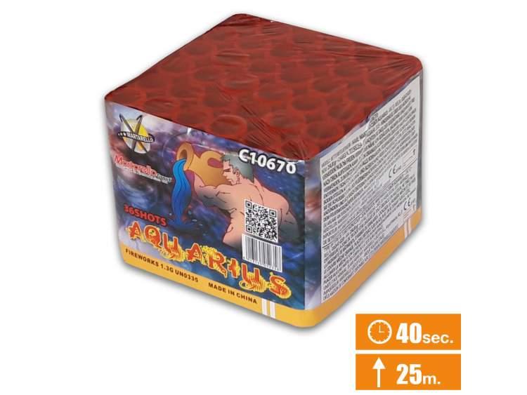 ACQUARIUS - SPETTACOLO PIROTECNICO 36 lanci COD. C10670 (1)